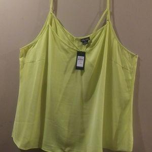 Citron Yellow Top, Size Plus XXL, NWT